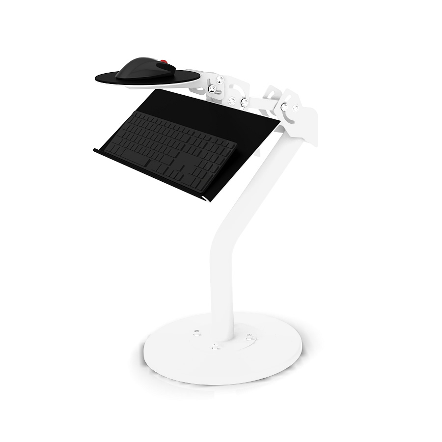 RSEAT Static Keyboard and Mouse Tray White