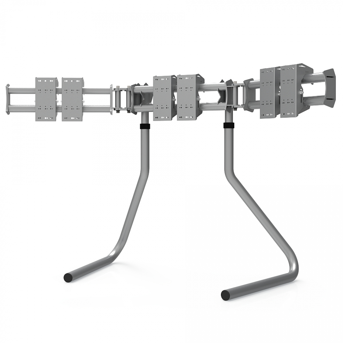 RS STAND T3L Silver - Triple screen up to 3x32inch