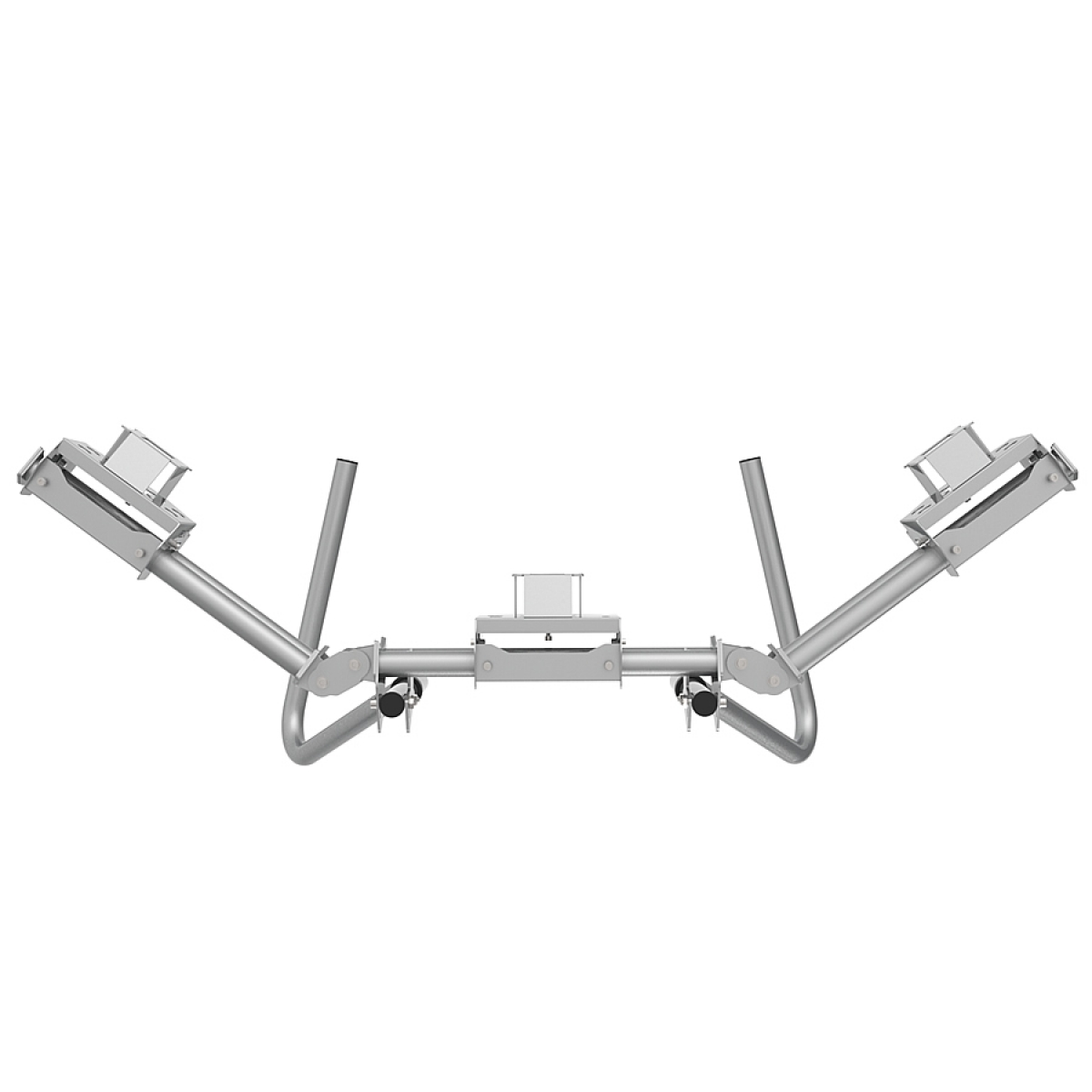 RS STAND T3LM Silver - Triple Ultra Wide Monitor Stand up to 3x29inch 21:9, up to 3x32inch 16:9
