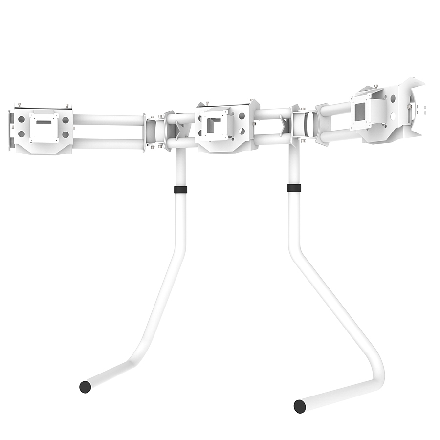 RS STAND T3LM White - Triple Ultra Wide Monitor Stand up to 3x29inch 21:9, up to 3x32inch 16:9