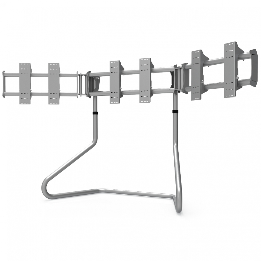 RS STAND T3XL V2 Silver - TV Stand for up to 3x50inch
