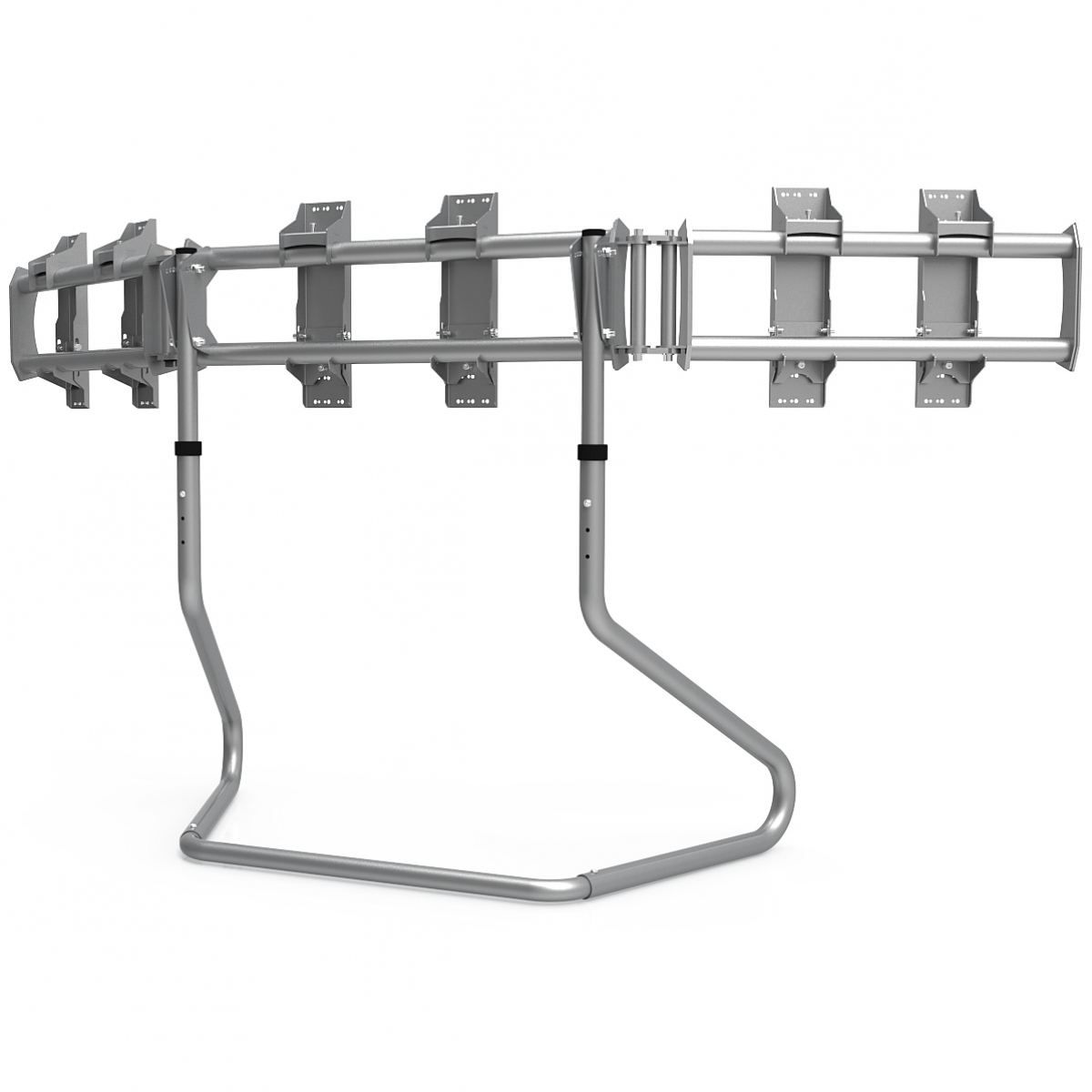 RS STAND T3XL Silver - TV Stand for up to 3x50inch