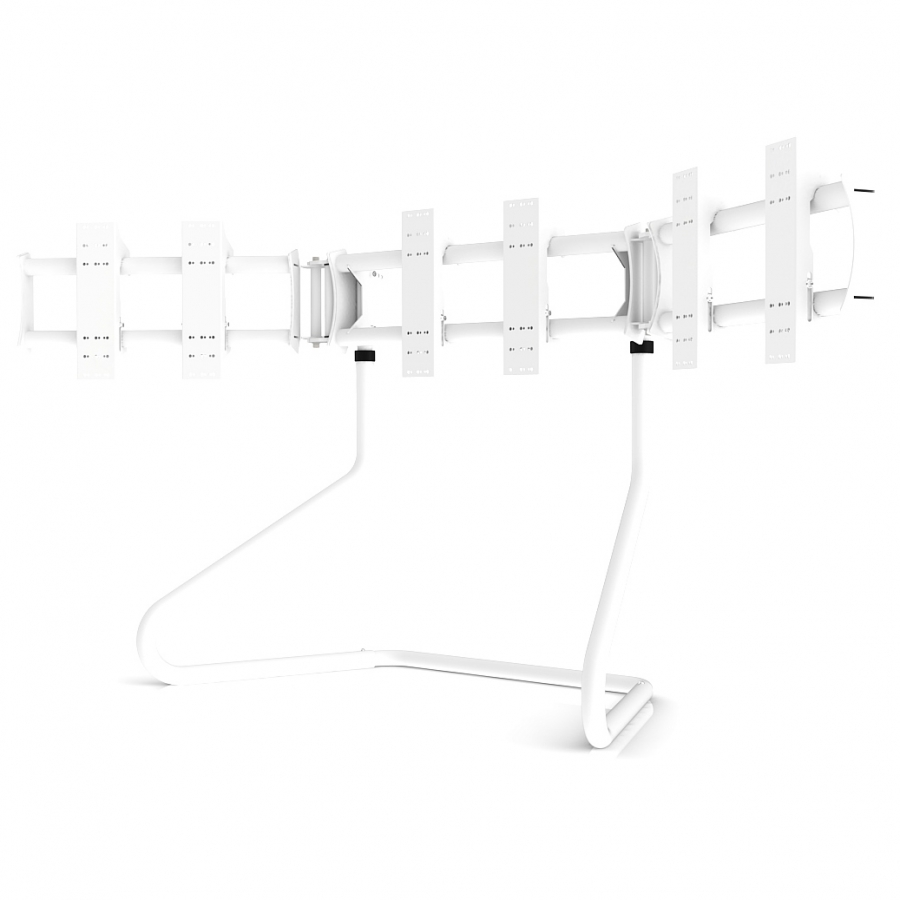 RS STAND T3XL V2 White - TV Stand for up to 3x50inch