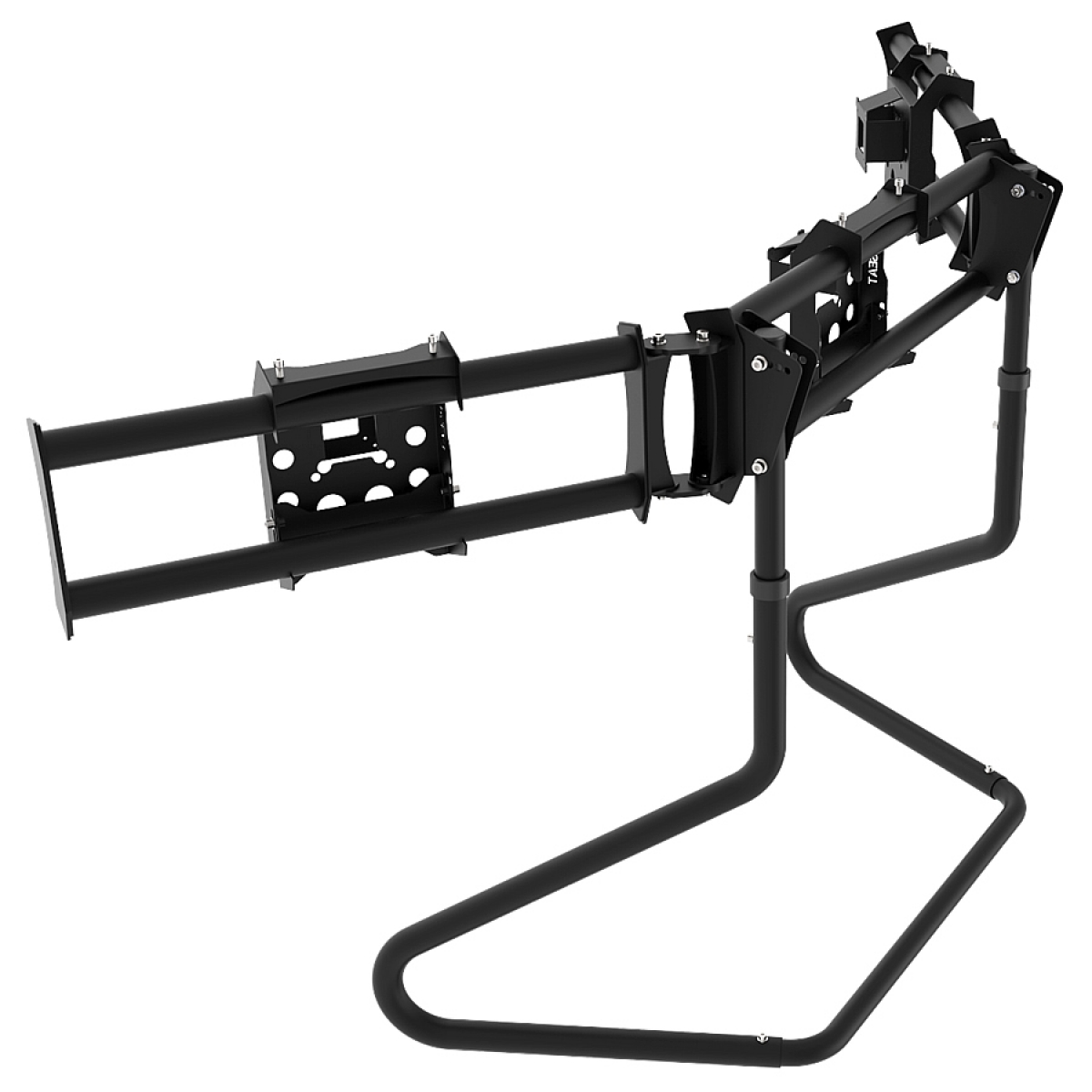 RS STAND T3XLM Black - Triple Ultra Wide Monitor Stand up to 3x38inch