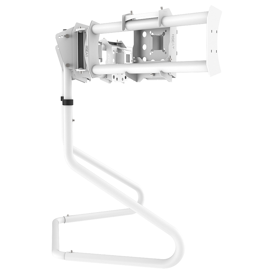 RS STAND T3XLM White - Triple Ultra Wide Monitor Stand up to 3x38inch