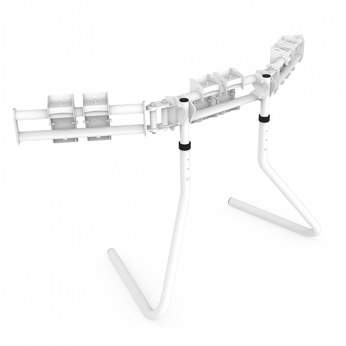 RS STAND T3L White - Triple screen up to 3x32inch
