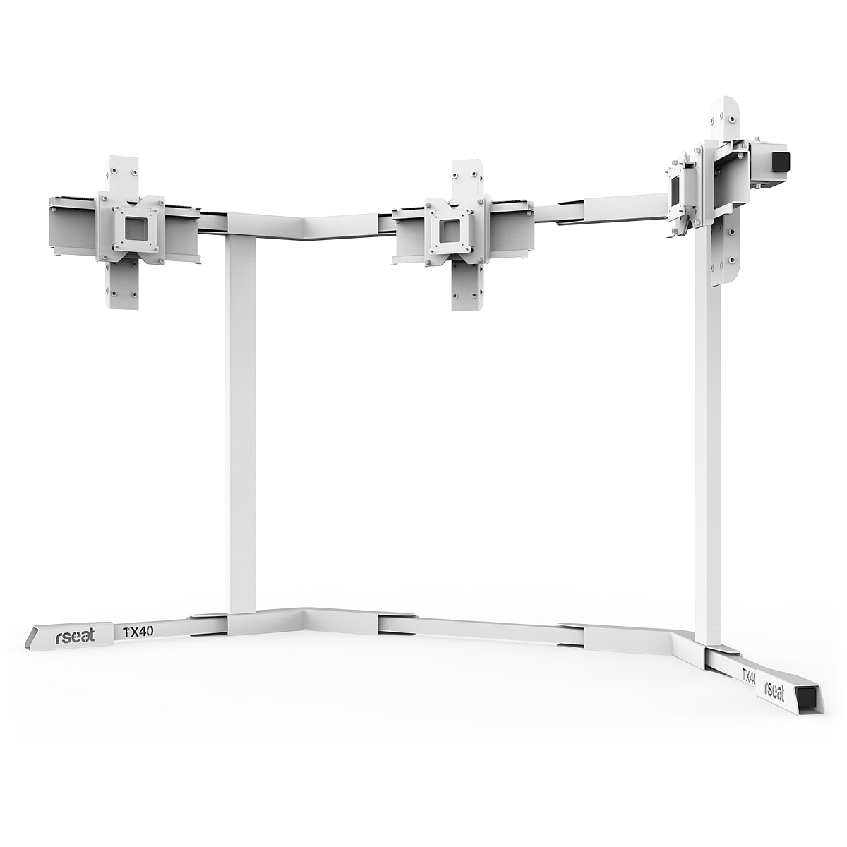 TX40 - Triple 27-40inch TV/Monitor Stand White