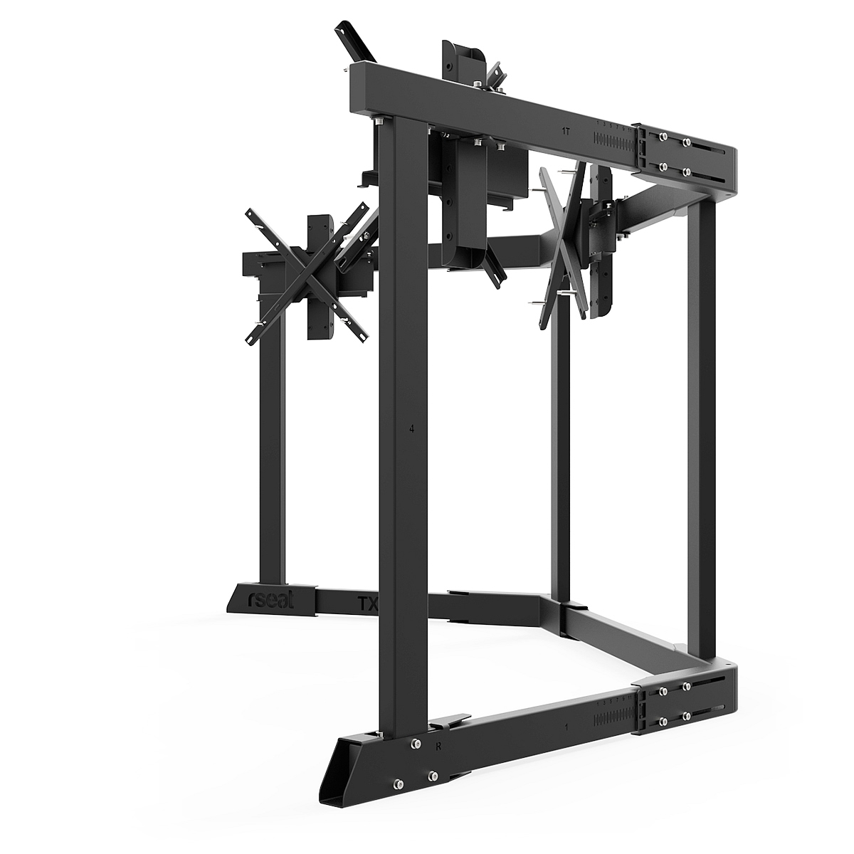 TX60 - Triple 43-60inch TV/Monitor Stand Black