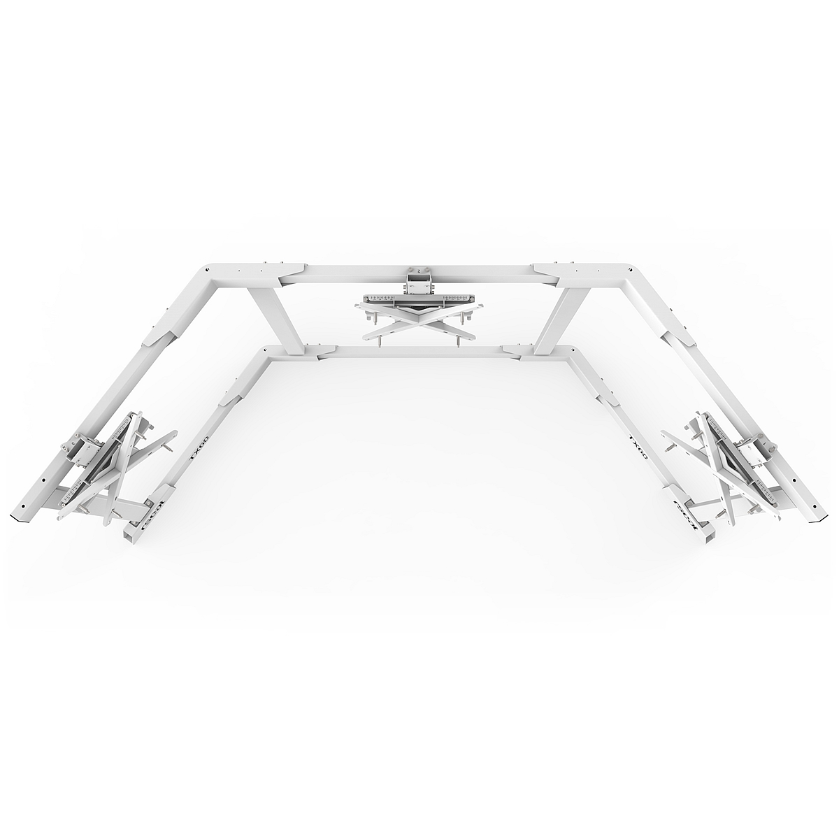 TX60 - Triple 43-60inch TV/Monitor Stand White
