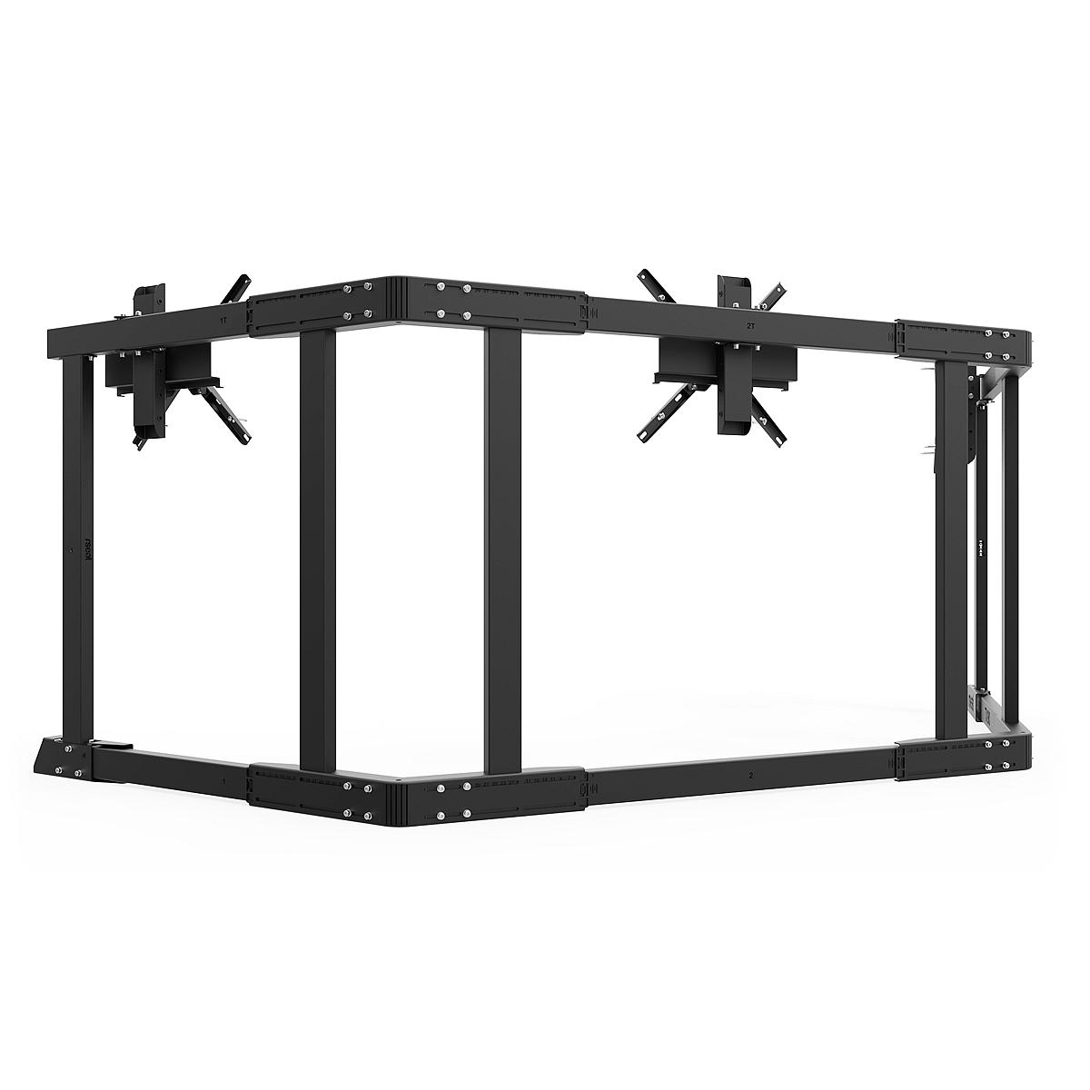 TX90 - Triple 65-90inch TV Stand Black