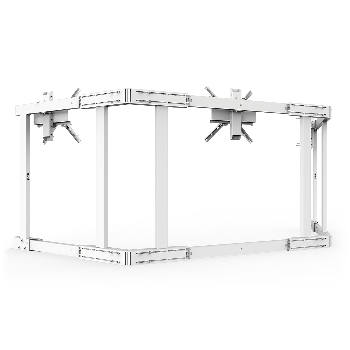 TX90 - Triple 65-90inch TV Stand White