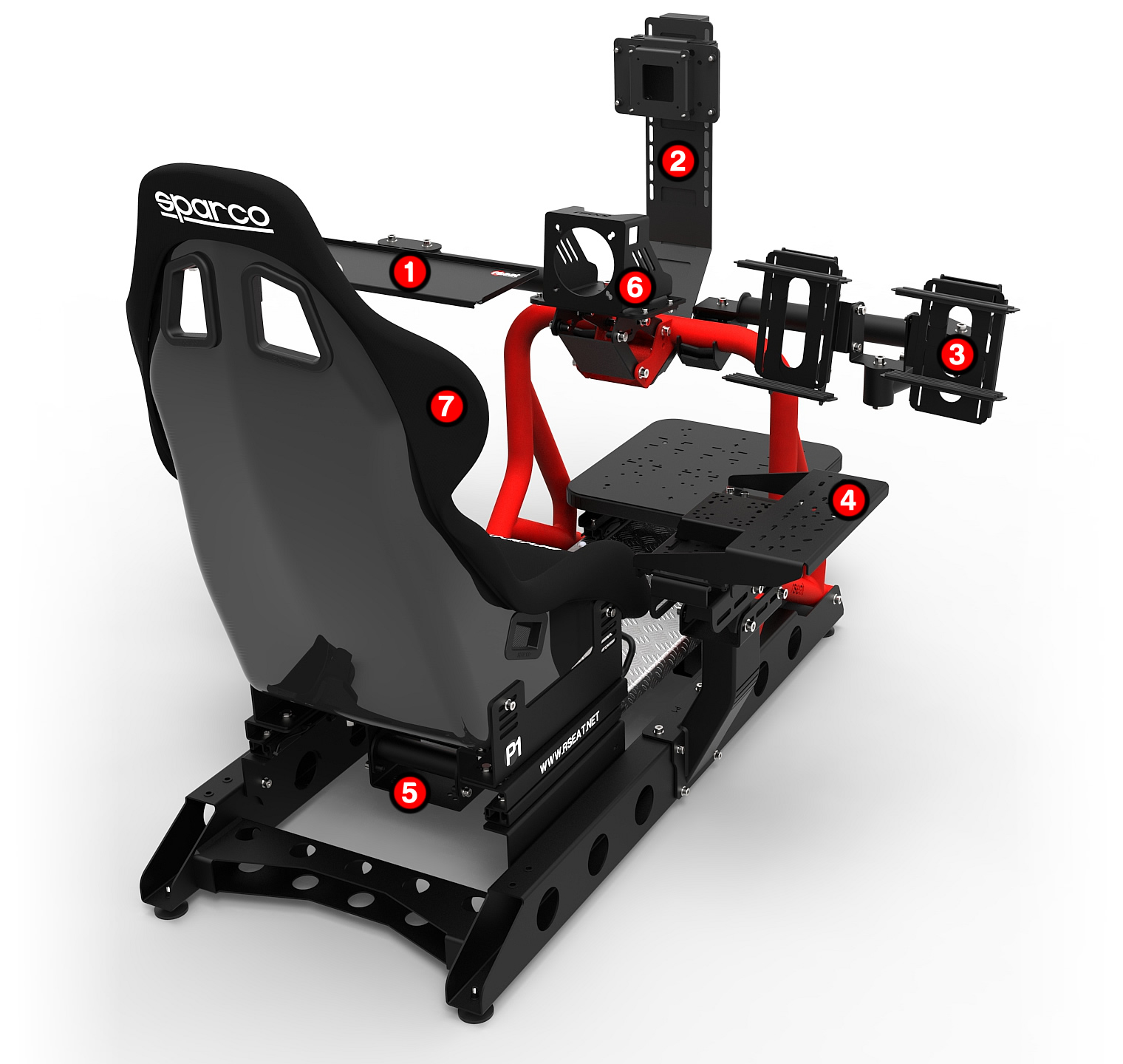 RSEAT P1 red